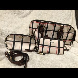 Brahmin purse with wallet and small bag